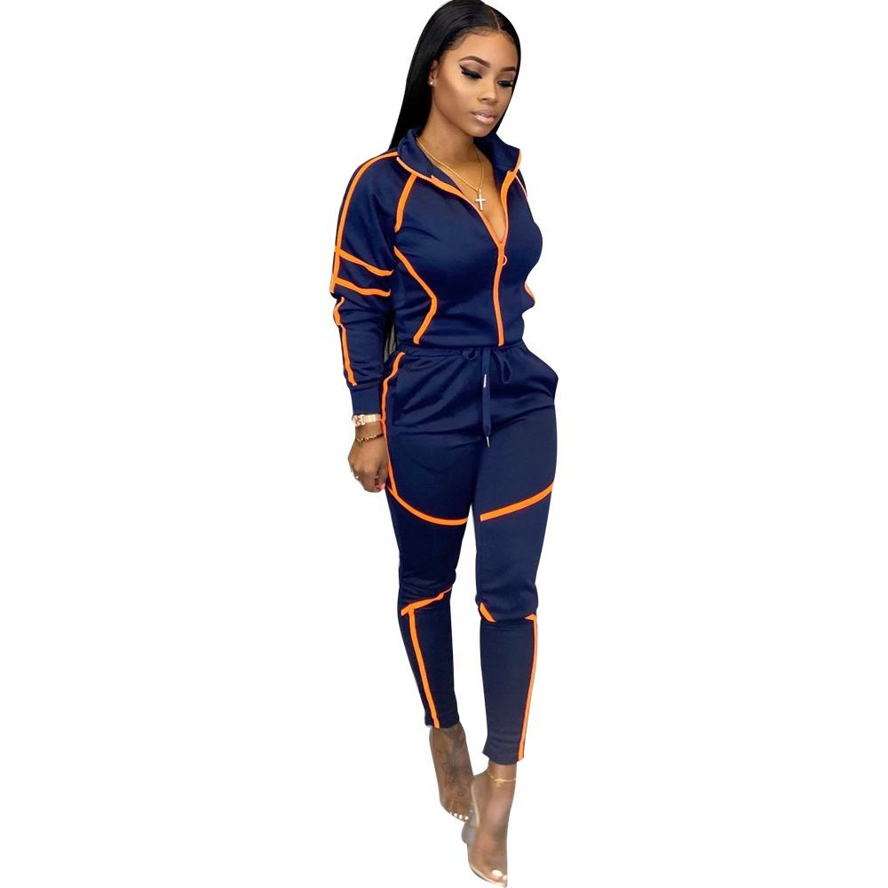H145 2020 New arrival fall 2 pcs boutique clothing new women's outfits fashion turn-down collar ladies two piece set outfit