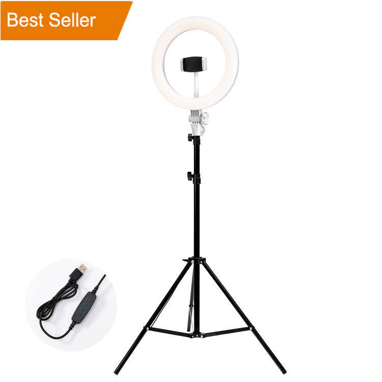 One-Stop Service Light Ring Led Stand Alone Led Lights Dimmable Photographic Fill Light Tiktok Circle Ring Lamp Led Selfie Ring Light 18 Inch 10 Inch With Tripod Stand Phone Holder