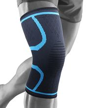 Non-Slip Nylon Knitted Knee Brace Compression Support Knee Sleeve For Running Sports