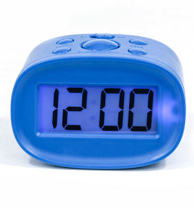 OEM ODM portable digital LCD alarm clock with snooze function