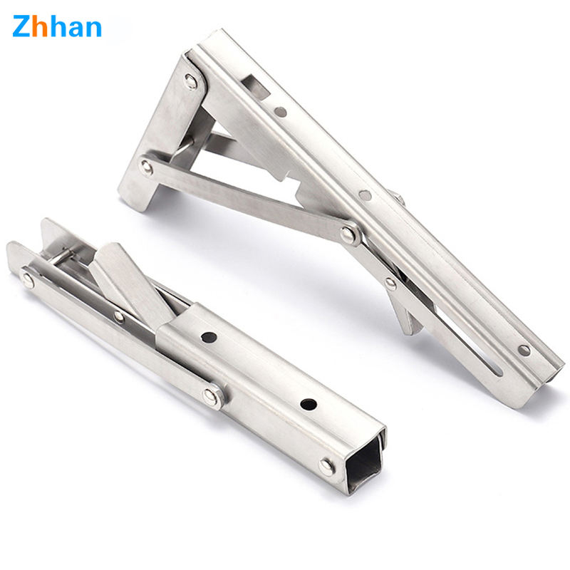 Shelf Support Bracket 90 Degree Right Angle Wall Mount Support Heavy Duty Spring Folding Steel Corner Brace Shelf Bracket