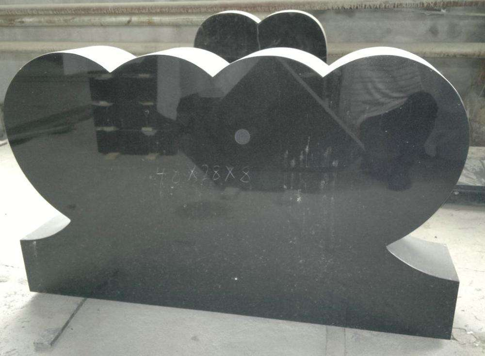 China Black Granite Monuments American Hot Selling Angel Shanxi Tombstones