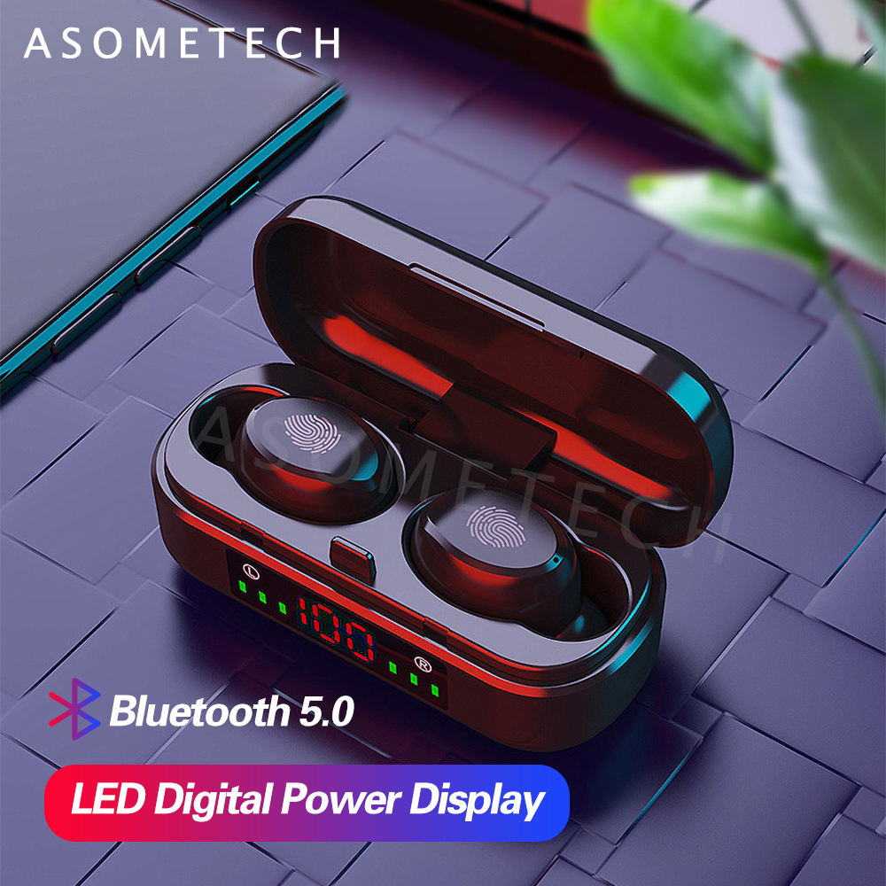 2019 LED display CVC8.0 Noise Canceling HiFi Stereo BT5.0 Mini Headset TWS Headphone Earbuds Earphones Bluetoeth Wireless