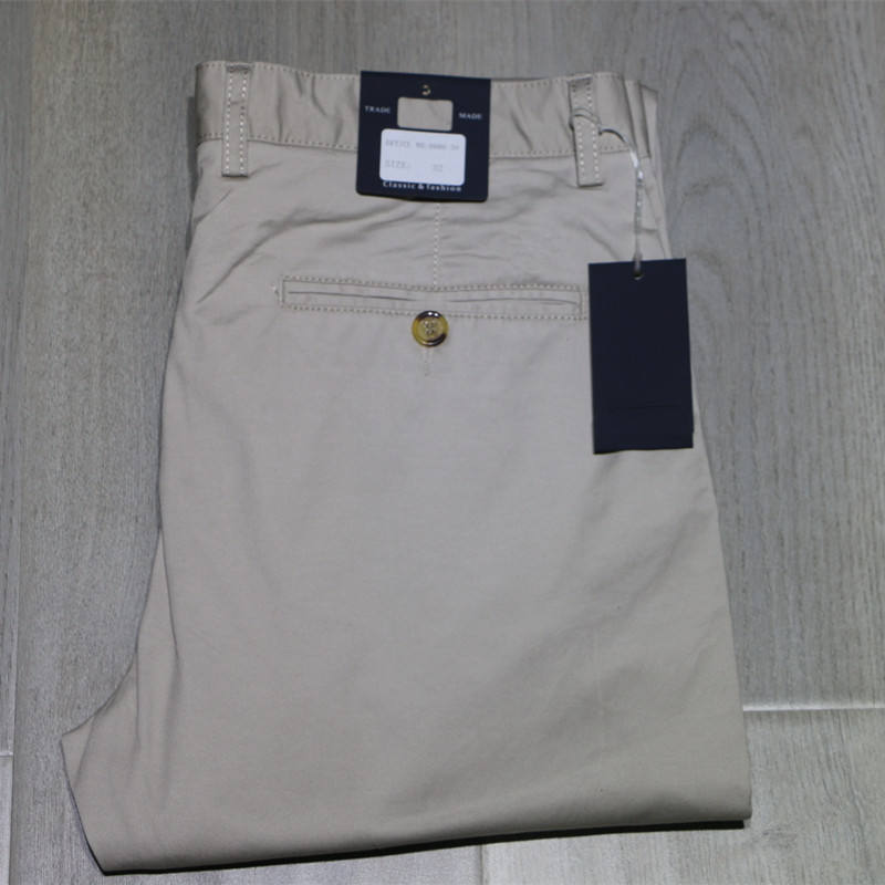 2019 High Quality Cotton Trousers Chinos Men's Pants Skinny Fit GuangZhou