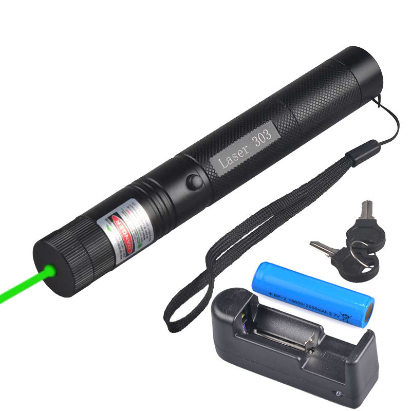 Rechargeable Green Laser Light High Power Aluminum 50mw 532nm Strong Laser Pointer with 18650 Battery