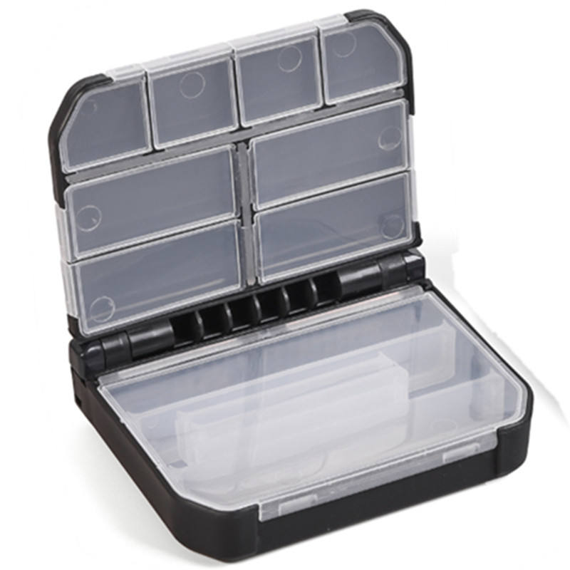 Portable Fishing Tackle Box Double Compartments Lure Hook Baits Pesca Accessory Plastic Baits Tackle Boxs