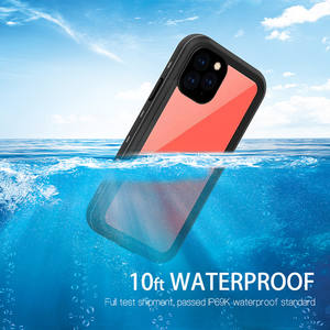 2020 new arrival tpu pc anti fall ip68 waterproof clear phone case cover for iPhone 12 pro max