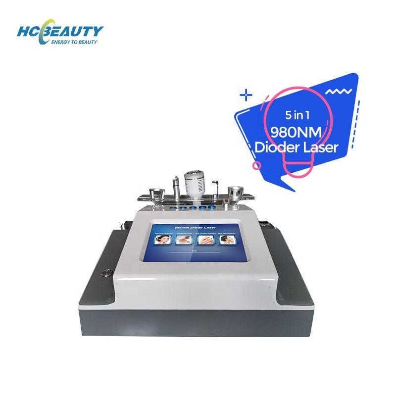 Hot selling effective lockingand precise control remove red blood 980nm diode vascular veins laser machine