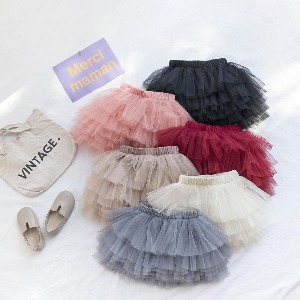 Birthday Party Toddler Baby Girls Tulle Skirt Summer Fancy Dresses Kids Fluffy Ballet Tutu Skirts