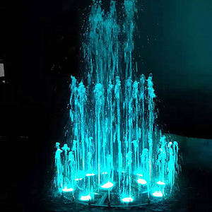 Outdoor garden pond home small musical fountain equipment with lights
