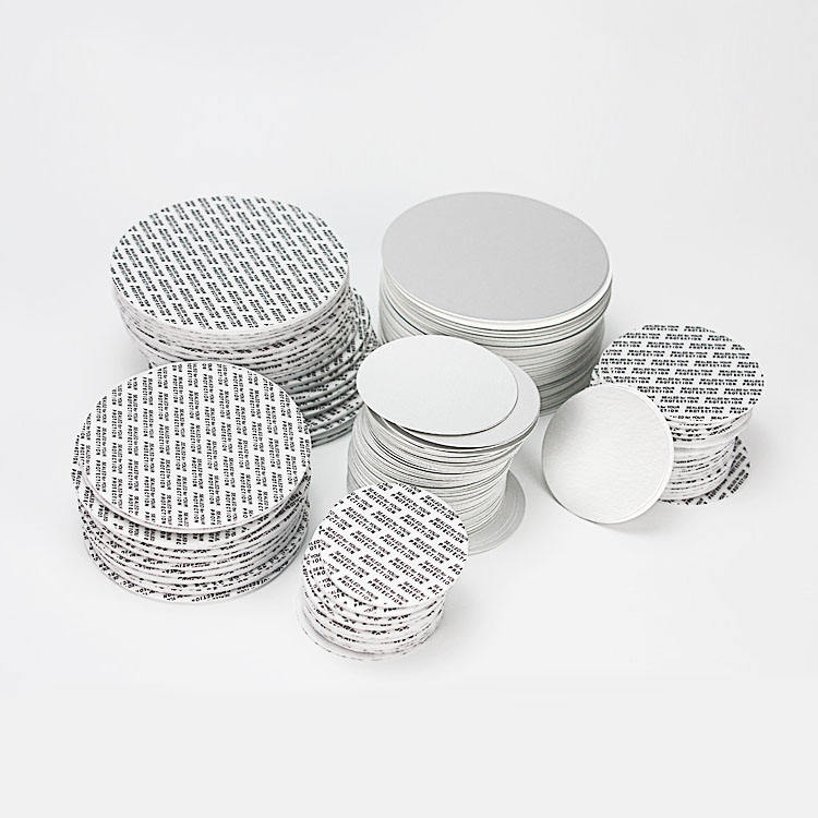 Induction bottle cap aluminum foil seal liner/wad sealed for your protection printed for PET/PE/PP capsule bottles