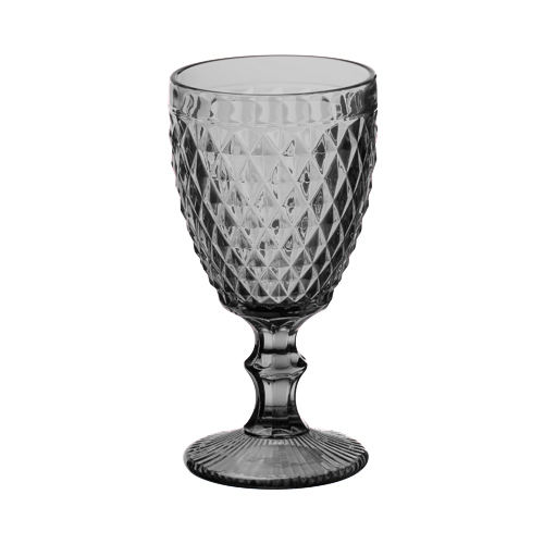 2012 hot sale crystal embossed colored custom goblet red wine glass cup for Bar and Wedding