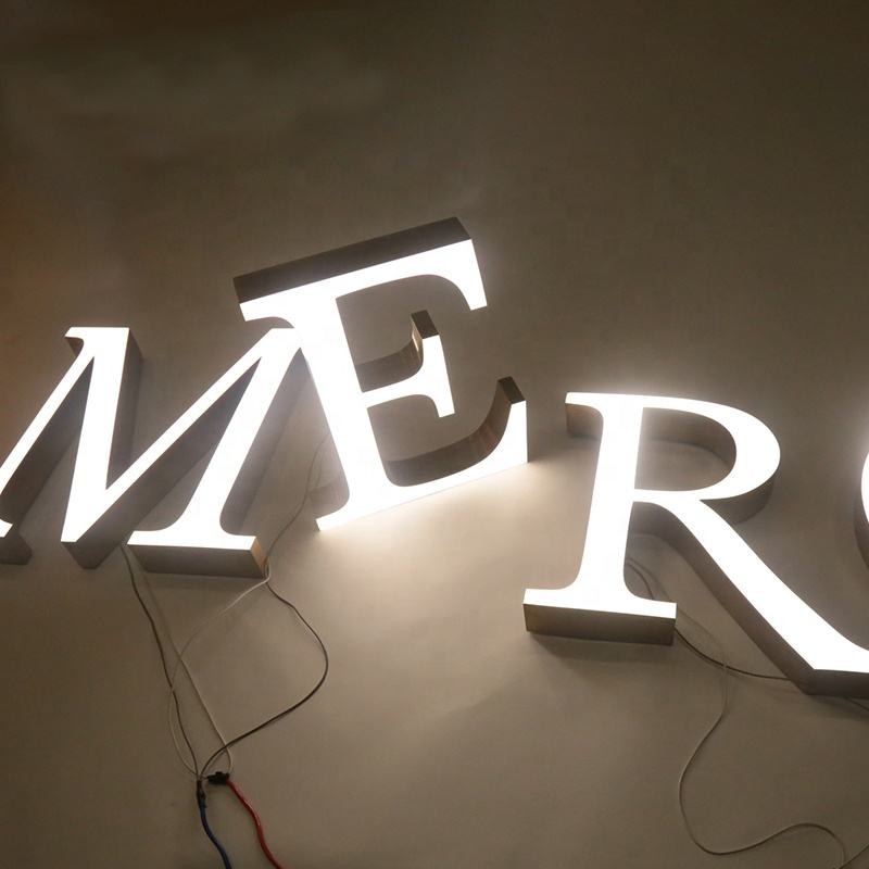 Hot selling Large metal sign letter A to Z Laser cut luminous letters custom backlit letter signs