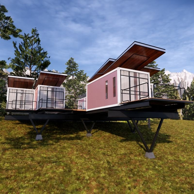 Easy install light steel 20ft foldable prefab living container houses for sale usa apartment