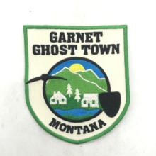 Wholesale custom high quality sew on embroidery patch, USA city & town badge patch