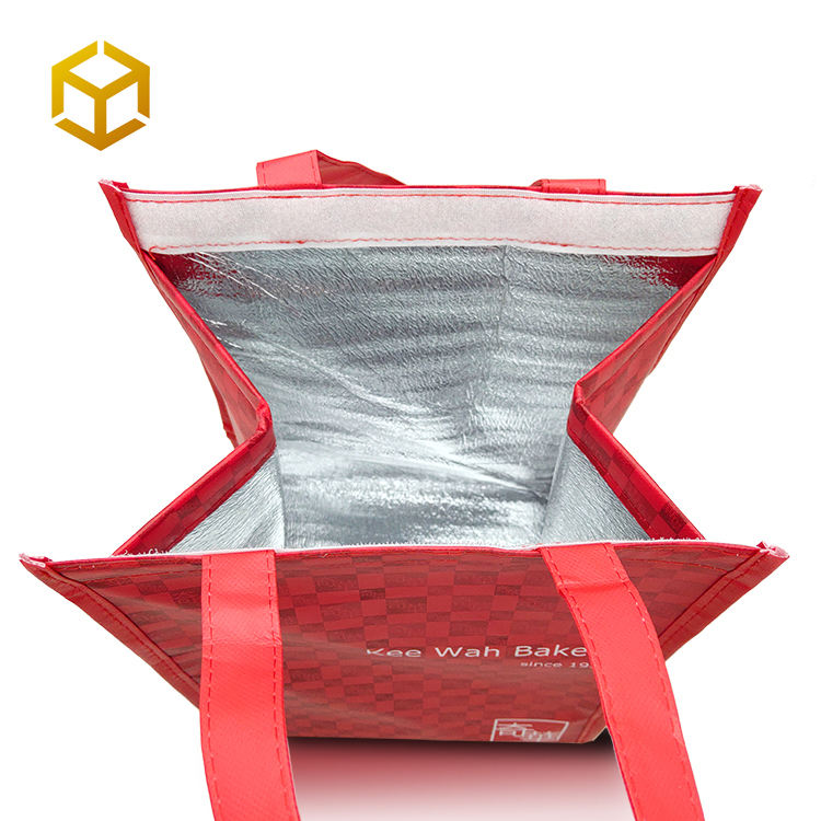 Custom Oem Food Delivery Insulated Tote Non Woven Aluminum Foil Outdoor Thermal Bag cooler
