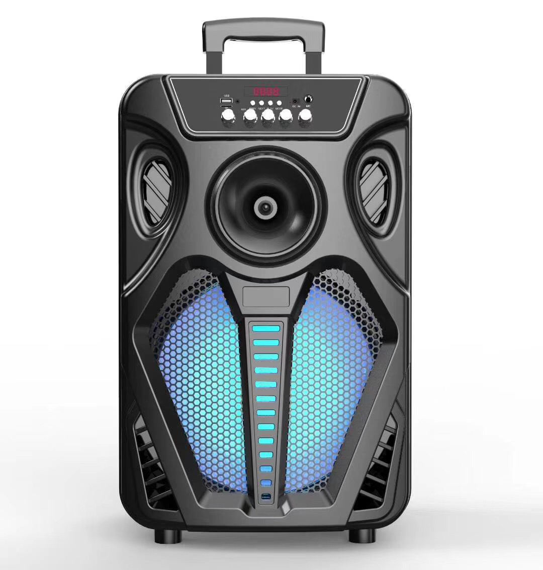 HT-W12 12 inch wireless PA Active Party Trolley Portable rechargeable dj speaker