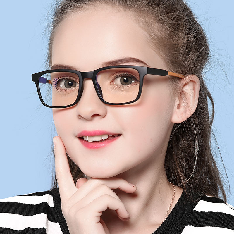 TR90 Children Optical Ultra-Light Anti Blue Light Kids Eyeglasses Frame Clear Eyewear for Reading
