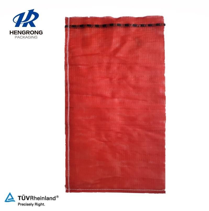 Hot sale high quality PP leno mesh bags for onion garlic potato vegetable net bag