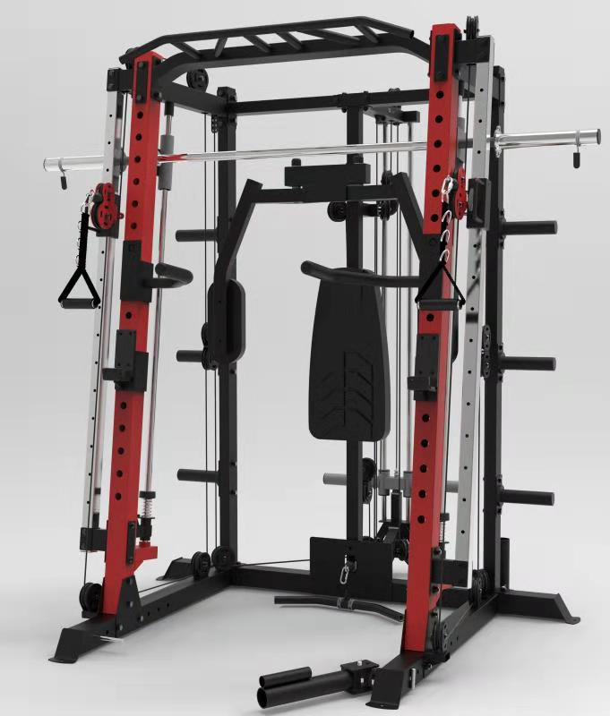 Fitness ausrüstung multifunktions power rack-home smith gym maschine
