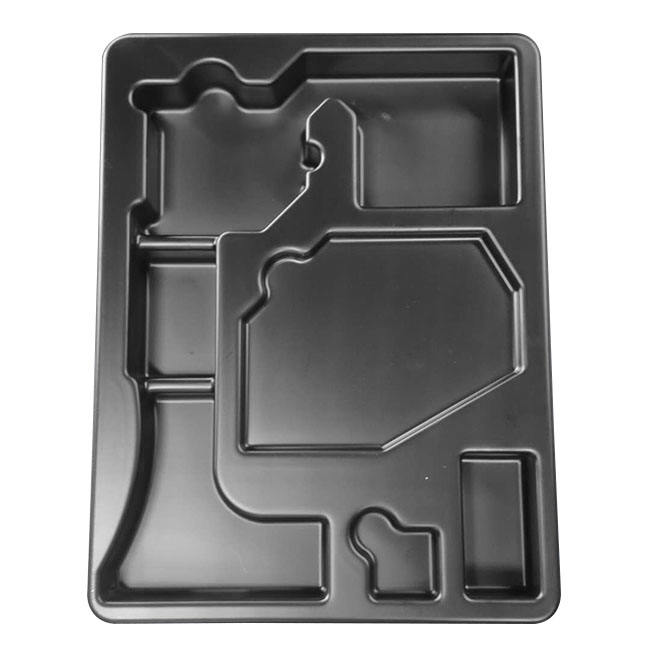 Ditai high quality parts storage tray accept customization vacuum thermoforming black ps packaging tray