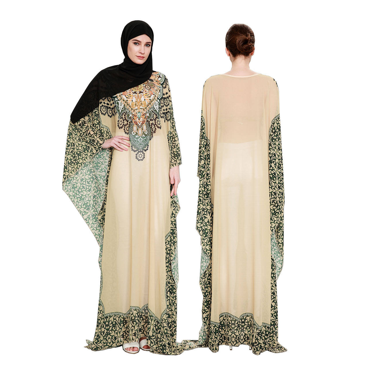 Arab Turkish Jilbab Dubai Long Muslim Women Islamic Dresses Plain Latest Designs Pray Abaya