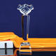 New Design Handshake Crystal Trophy To Promote Friendship And Cooperation For Business Gift