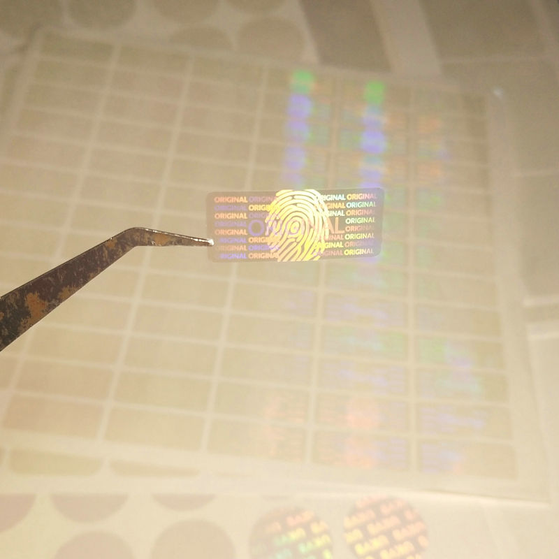 Holograma personalizado pegatina anti falsificación holograma holográfico de seguridad pegatinas
