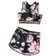 Sublimation Printing Womens Yoga Shorts Girl Seamless Bra Sport Set