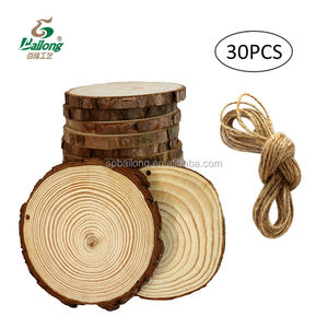 Custom unfinished DIY kit hand drawing use natural round shape pine tree wood craft natural slice