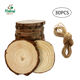 Custom unfinished DIY kit hand drawing use natural round shape pine tree wood craft disc natural slice