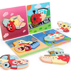 Special offer the wooden animal 3D jigsaw puzzle learning puzzle game early educational initiation jigsaw puzzle toys