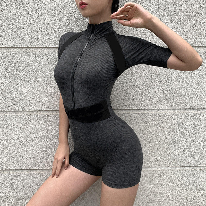 New Lady Jumpsuit Plus Size And Romper for Women Sexy Condole Super Short Playsuits Summer Solid Shorts Playsuit