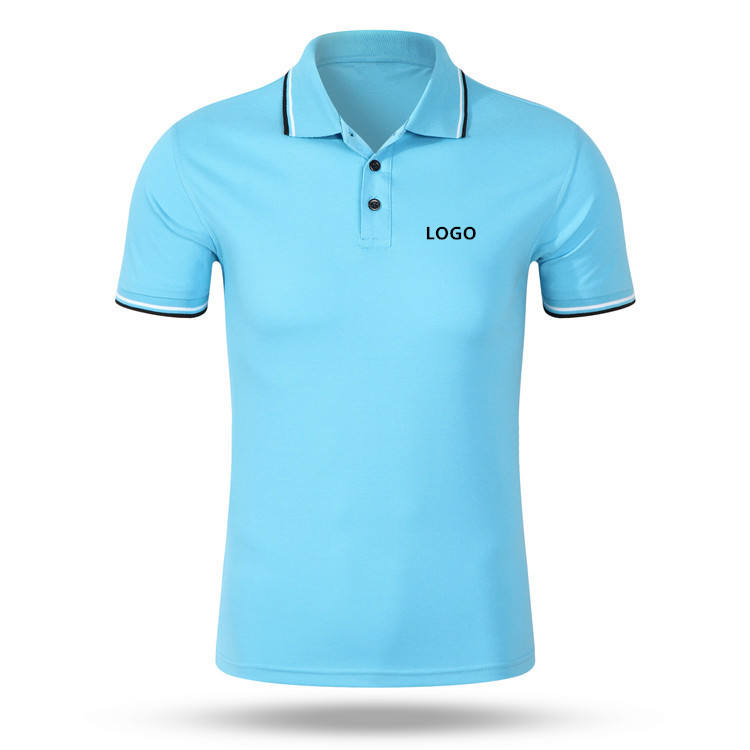 High quality two tone color matching mens cotton polo shirt