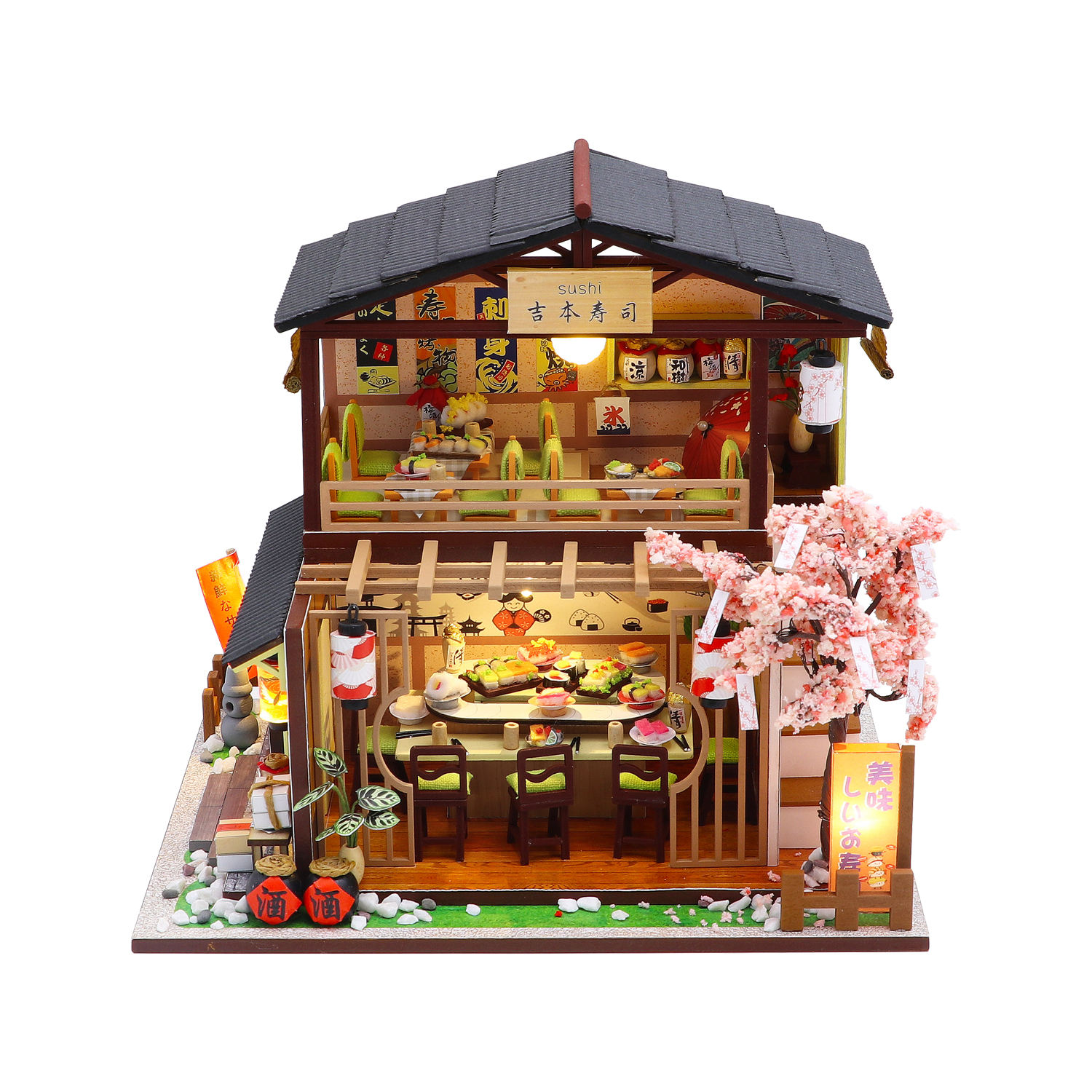 ProCircle lifestyle Eco friendly diy toy furniture set miniature wooden toy doll house furniture toys