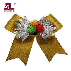 Fancy lurex ribbon bow christmas decoration bow gift bow