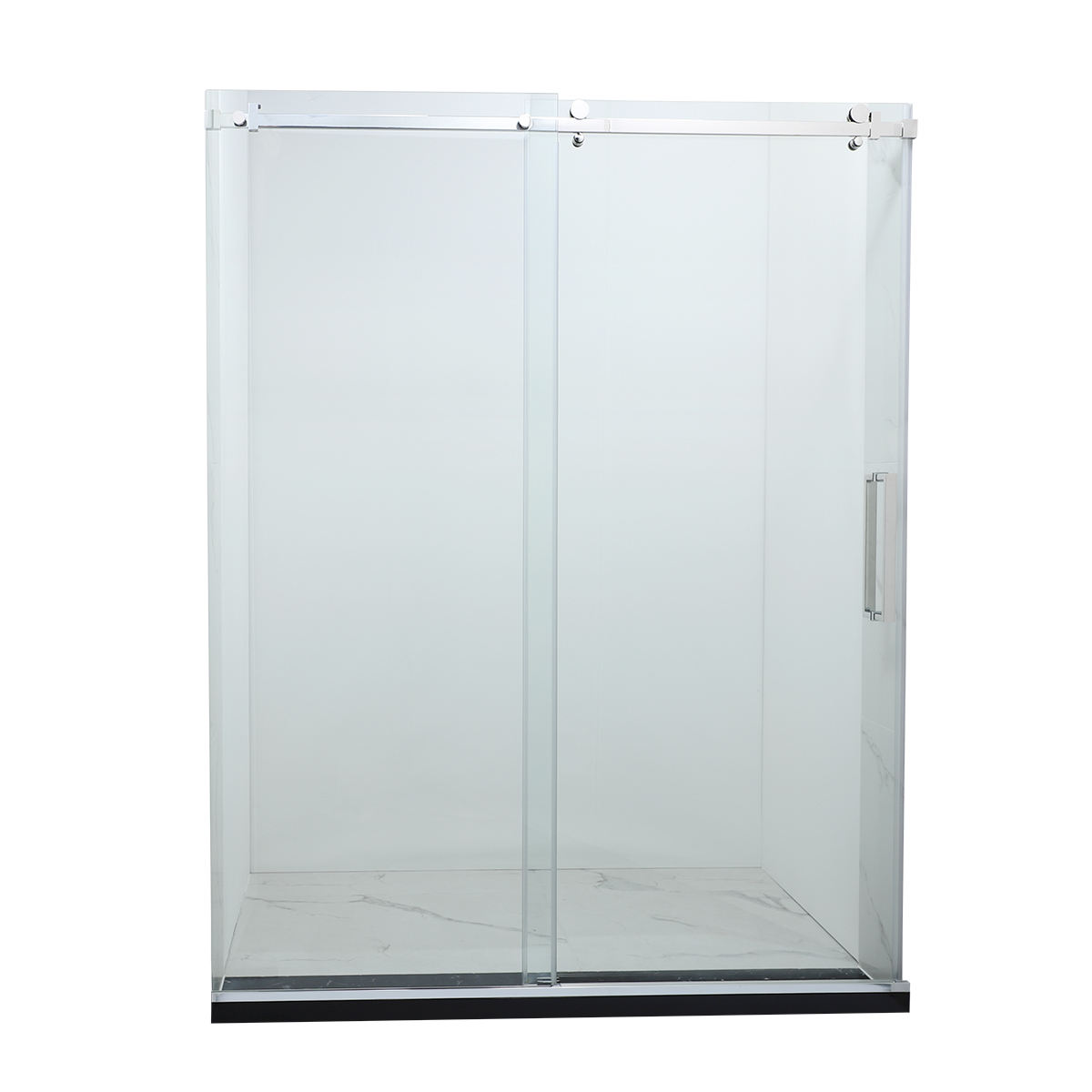 factory direct sale new design high quality bathroom bathtub tempered glass frameless sliding shower door