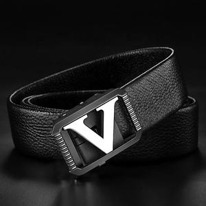 Luxury men's slide buckle belt top cowhide full grain leather belts for men leather men automatic belts