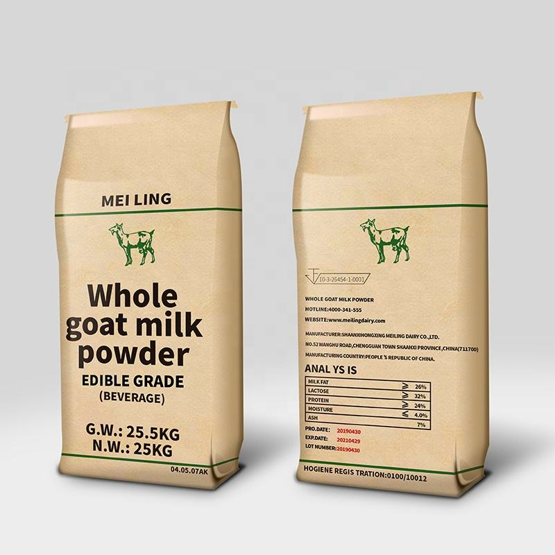 Top class 25kg Raw whole full cream goat milk powder for infant milk powder and formulated milk powder supplier