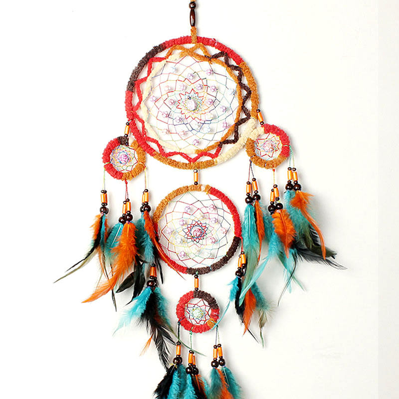 rainbow color home decorative dream catcher