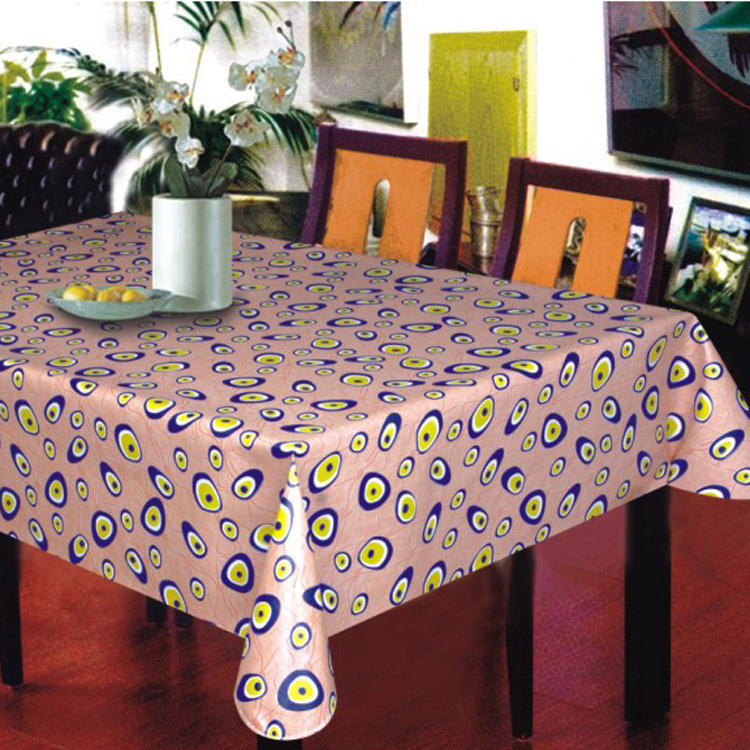 Wholesale restaurant PVC nonwoven printable colorful tablecloth