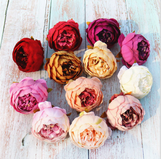 Factory wholesale Home wedding decoration silk Artificial flower simulation Foreign rose Large peony head