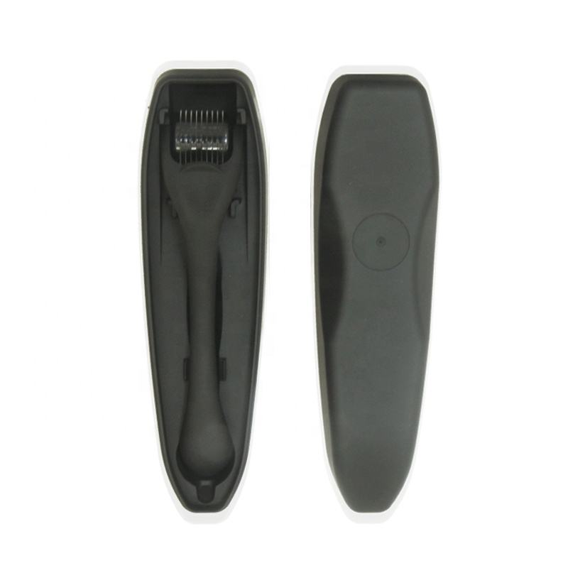 Private Label Beard Roller .5mm Black Matte Derma Roller Beard Hair Growth for Men and Women