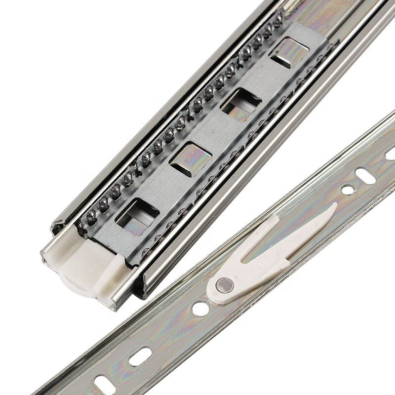 Telescopic Channel Slide Telescopic Slides 45mm 4510 4509 Cold-rolled Steel Ball Bearing Drawer Slide Furniture Concealed Telescopic Channels
