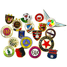 High Quality Souvenir Football Club Custom Logo Metal Hard Enamel Badge Fashion Decorative Lapel Pins for Clothes