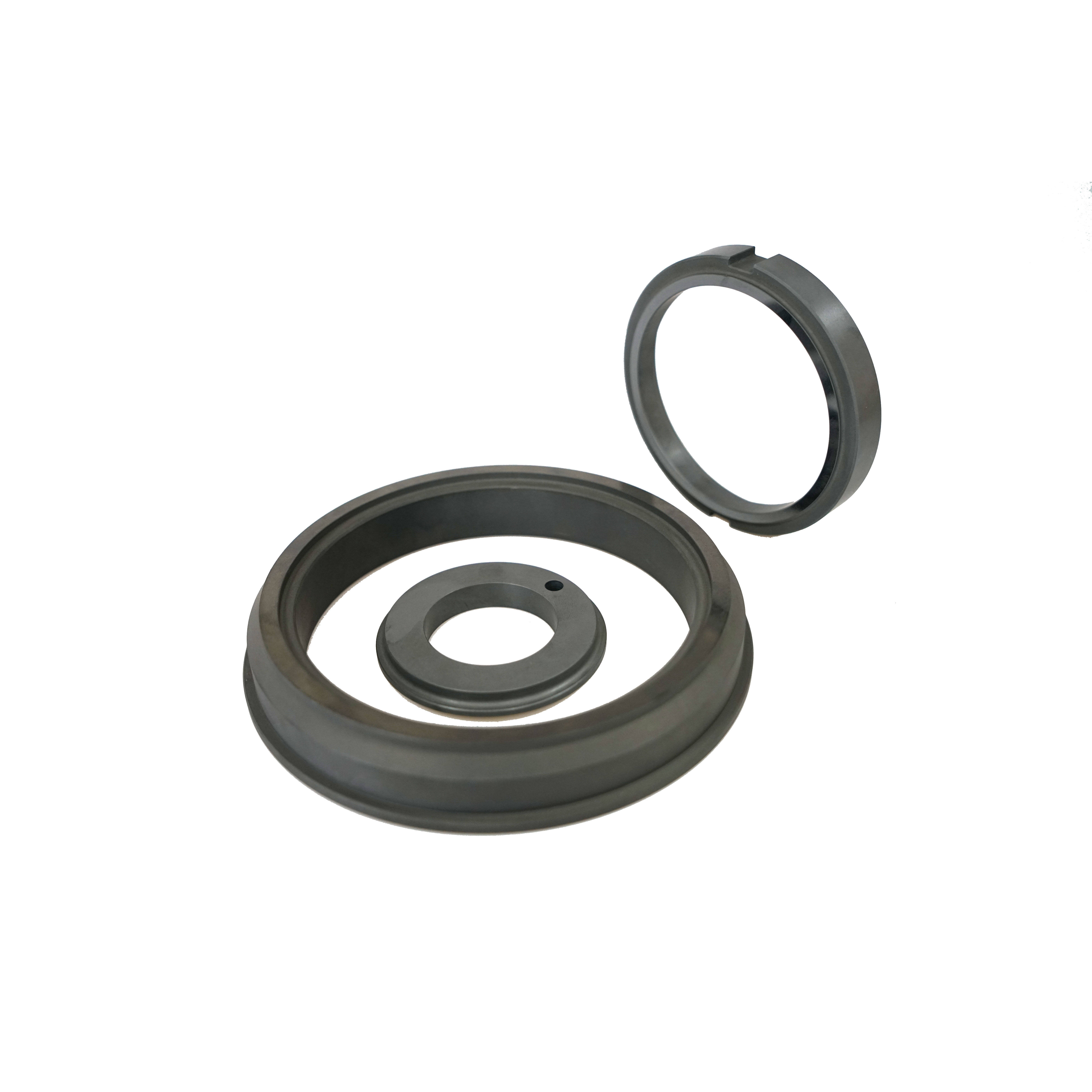 high resistance /Refractory Sintered Silicon carbide graphite (SSIC+C) Ceramic Sealing Parts polishing ring ring seal