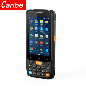 CARIBE Android Handheld Mobile Phone 4G Bluetooth Wifi 1D 2D Barcode Scanner With Display
