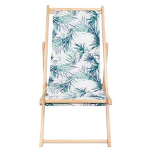 Leisure Deck Chair 3 Position Adjustable Printed Wood Beach Chair