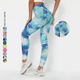 Multicolor Scrunch Butt Tie Dye Printed Sports Leggings Workout Clothing Women High Waist Yoga Pants