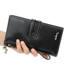 2020 Fashionable Baellerry Women Wallet Oil Wax Leather Ladies Purse Long Wallet